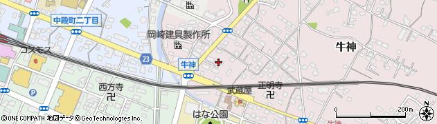 大分県中津市牛神415周辺の地図