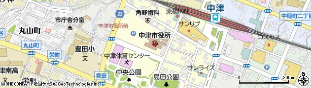 大分県中津市周辺の地図