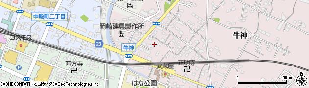 大分県中津市牛神357周辺の地図