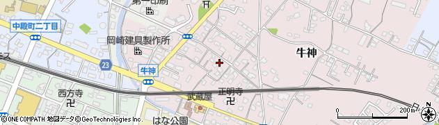 大分県中津市牛神298周辺の地図