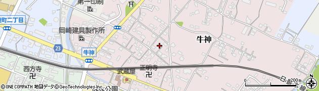 大分県中津市牛神272周辺の地図