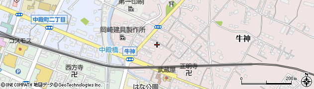 大分県中津市牛神351周辺の地図