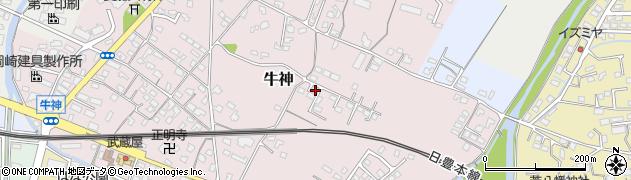 大分県中津市牛神189周辺の地図
