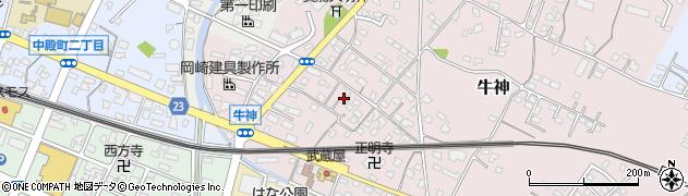 大分県中津市牛神291周辺の地図