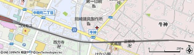 大分県中津市牛神410周辺の地図
