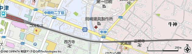 大分県中津市牛神406周辺の地図