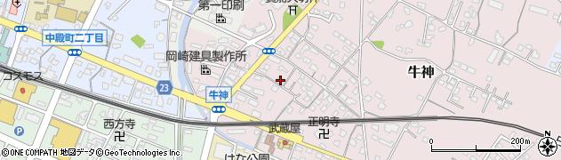 大分県中津市牛神289周辺の地図