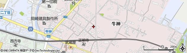 大分県中津市牛神255周辺の地図