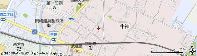 大分県中津市牛神271周辺の地図