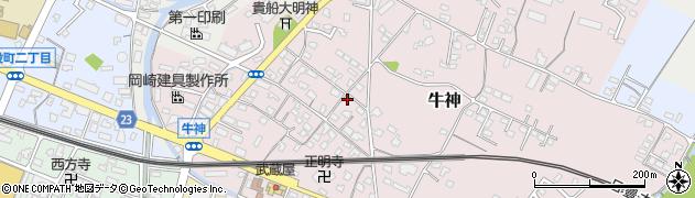 大分県中津市牛神270周辺の地図