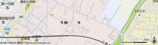 大分県中津市牛神188周辺の地図