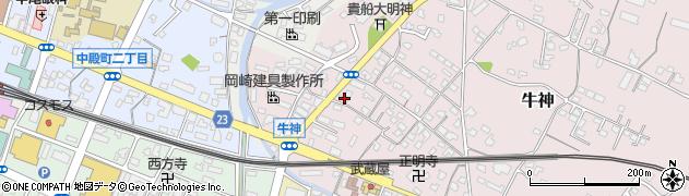 大分県中津市牛神365周辺の地図
