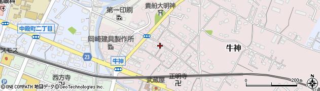 大分県中津市牛神287周辺の地図