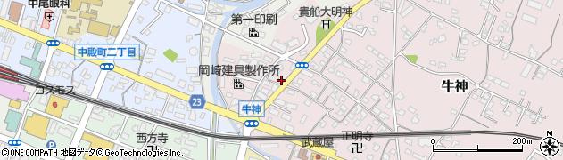 大分県中津市牛神358周辺の地図