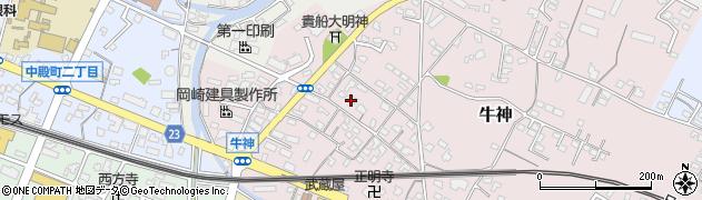 大分県中津市牛神280周辺の地図