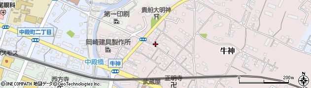 大分県中津市牛神281周辺の地図