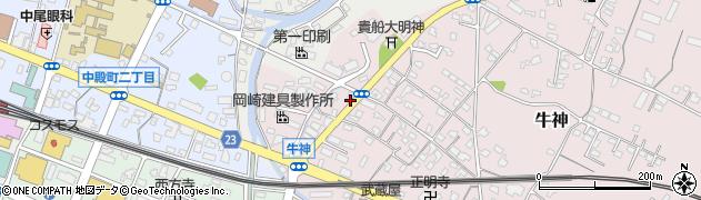 大分県中津市牛神362周辺の地図