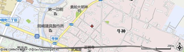 大分県中津市牛神268周辺の地図