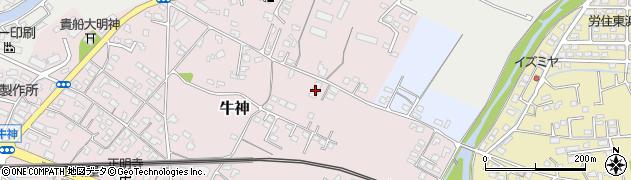 大分県中津市牛神136周辺の地図