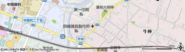大分県中津市牛神360周辺の地図