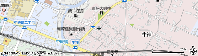 大分県中津市牛神372周辺の地図