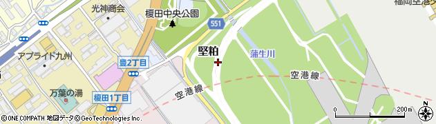 福岡県福岡市博多区堅粕周辺の地図