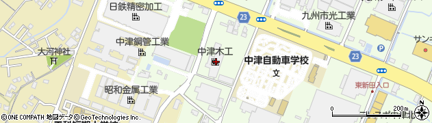 大分県中津市大新田444周辺の地図