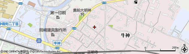 大分県中津市牛神265周辺の地図