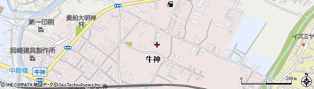大分県中津市牛神113周辺の地図