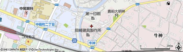 大分県中津市蛎瀬769周辺の地図
