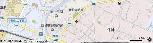 大分県中津市牛神380周辺の地図