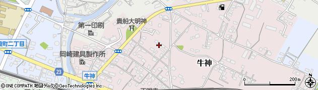大分県中津市牛神108周辺の地図