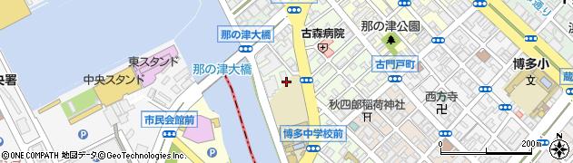 福岡県福岡市博多区対馬小路周辺の地図