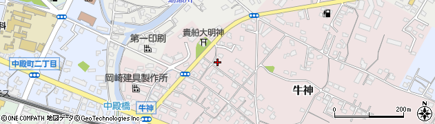 大分県中津市牛神390周辺の地図