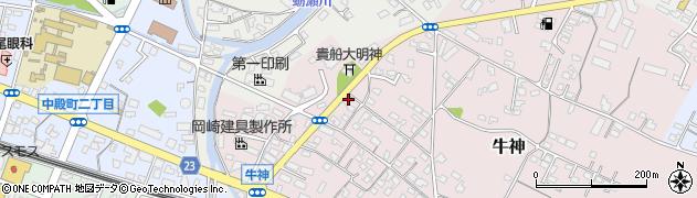 大分県中津市牛神378周辺の地図