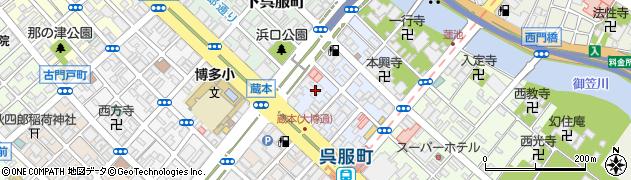 福岡県福岡市博多区中呉服町周辺の地図