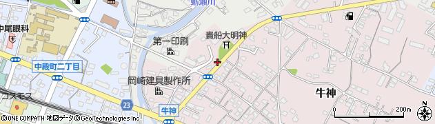 大分県中津市牛神376周辺の地図