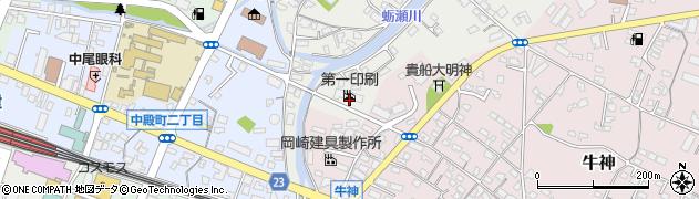 大分県中津市蛎瀬770周辺の地図