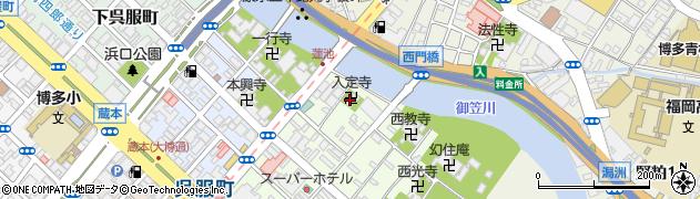 入定寺周辺の地図