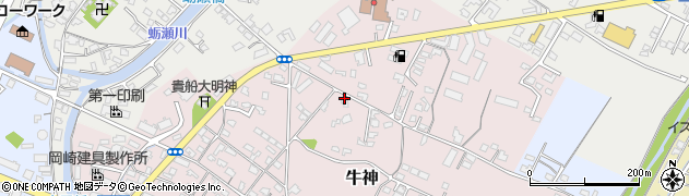 大分県中津市牛神92周辺の地図