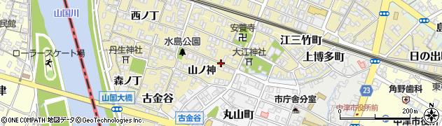 大分県中津市金谷南ノ丁周辺の地図