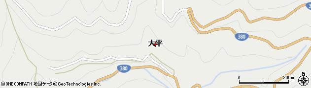愛媛県喜多郡内子町大平周辺の地図