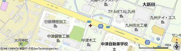 大分県中津市大新田438周辺の地図