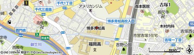 福岡県立博多青松高等学校周辺の地図