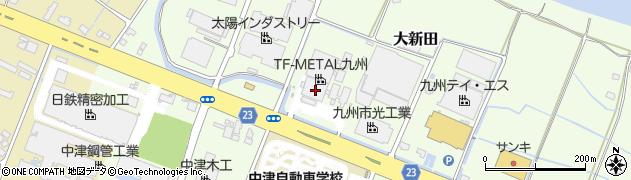 大分県中津市大新田396周辺の地図
