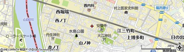 大分県中津市金谷(中ノ丁)周辺の地図