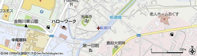 大分県中津市蛎瀬706周辺の地図