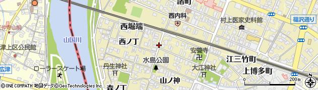 大分県中津市金谷本町周辺の地図