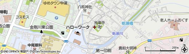 大分県中津市蛎瀬337周辺の地図