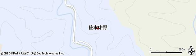和歌山県すさみ町(西牟婁郡)佐本中野周辺の地図